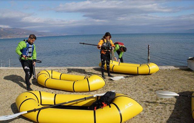 Packrafting nel lago di Ohrid