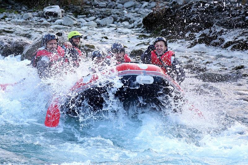Raftingtraining in de Vjosa-rivier in Albanië