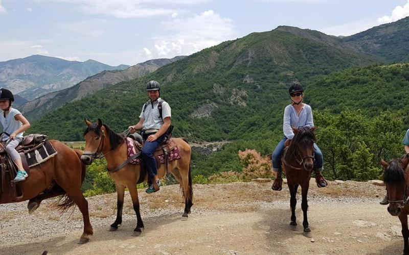 Horseback riding in south Albania