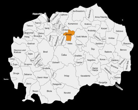 mappa della macedonia
