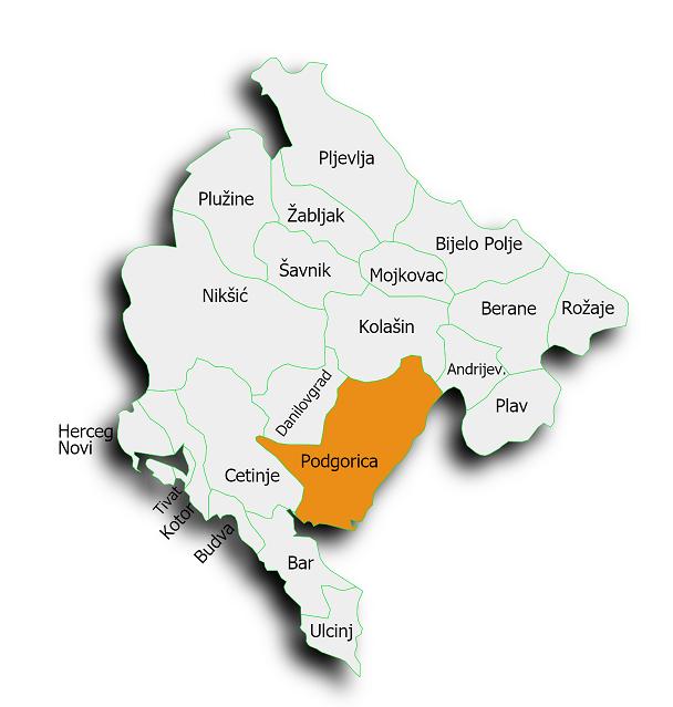 мапа Црне Горе